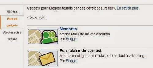 Ajouter le formulaire de contact sur Blogger