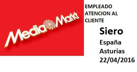 Lanzadera de Empleo Virtual Oviedo, Oferta Media Markt Siero