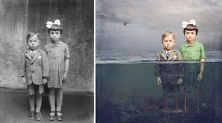 Artist Turns Photos into Colorfully Whimsical Composites