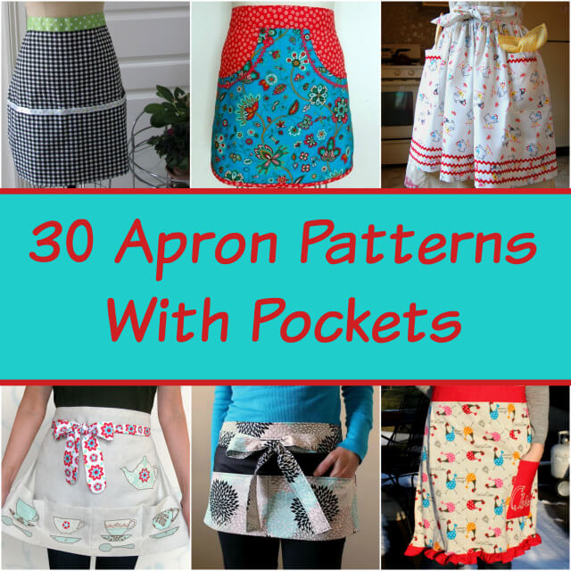 Pocket Apron Pattern Roundup; Becky Cooks Lightly