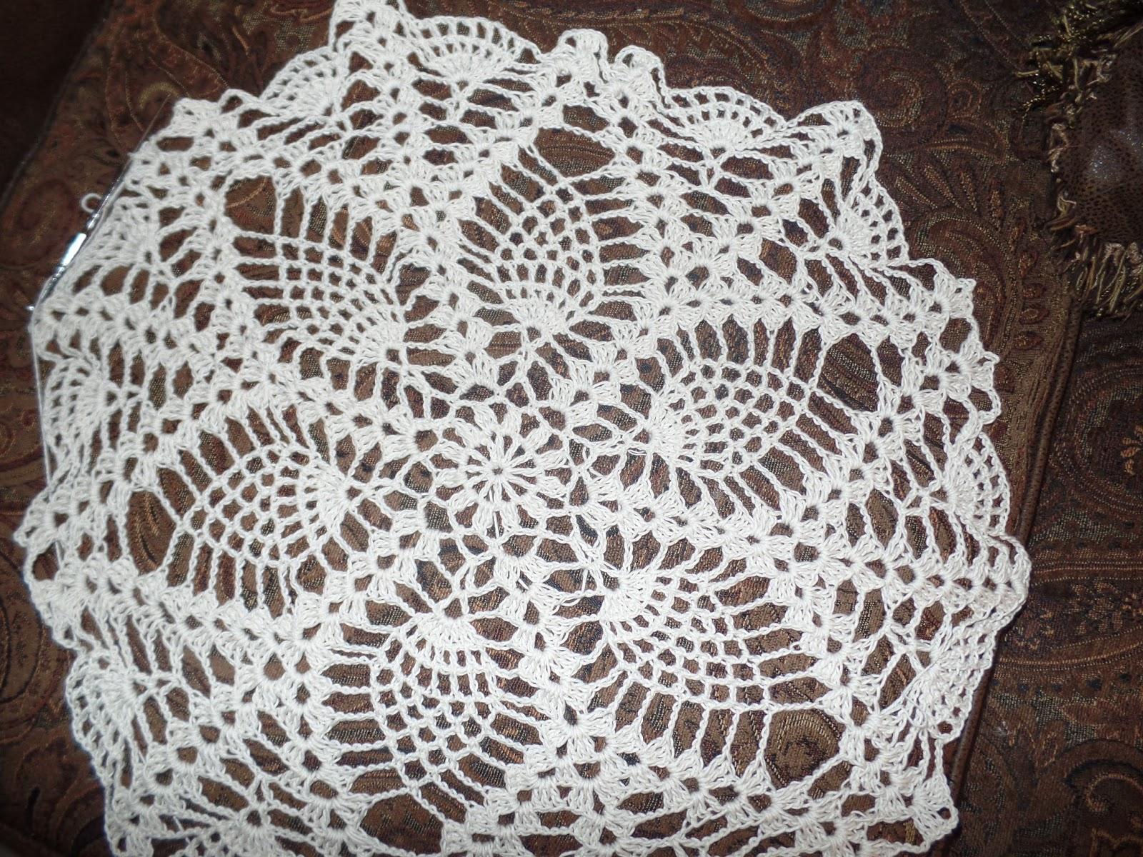 Hermosa Pañito Patrones De Crochet De Piña Ornamento - Ideas de ...