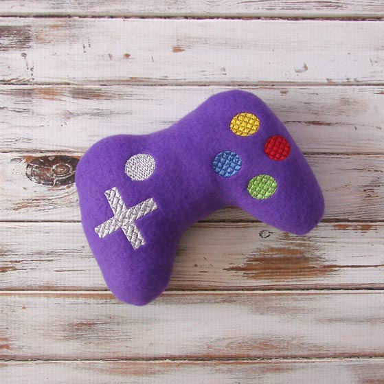 Plush video game controller