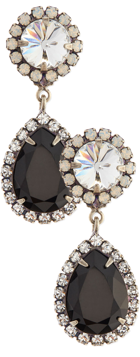 Dannijo Monaco Black Teardrop Earrings