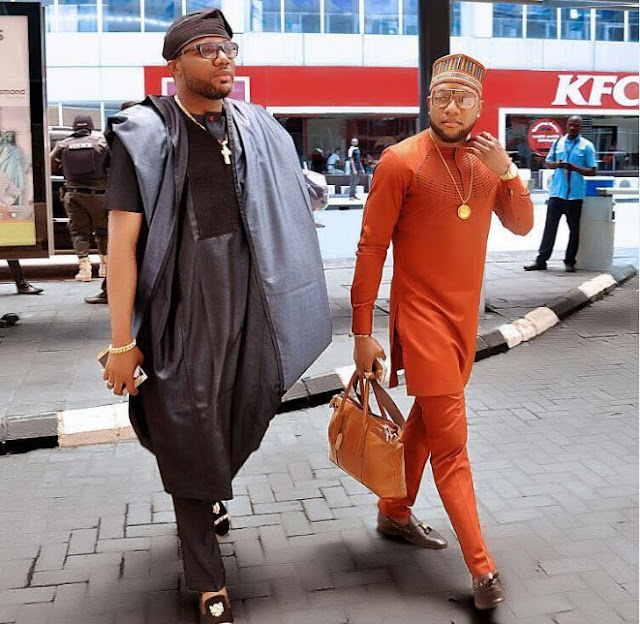 Dapper-looking brothers E-money and Kcee step out on the street