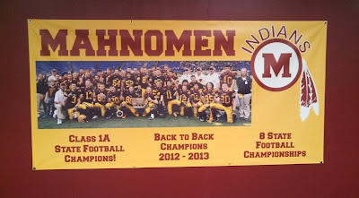 Mahnomen Indians High School Football Championship Banner