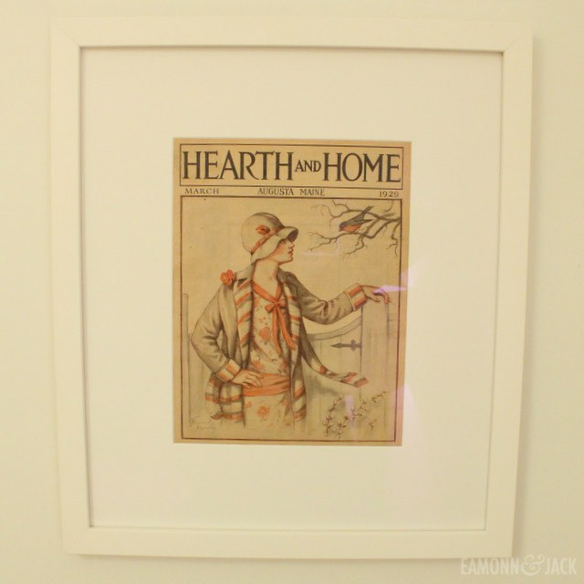 framed vintage hearth and home magazine