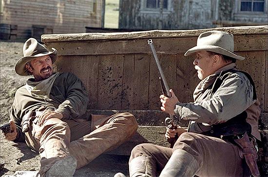 Kevin Costner y Robert Duvall en Open Range