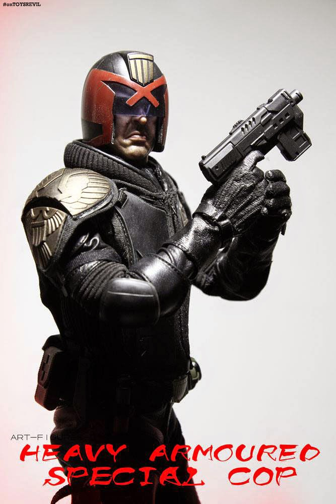 Af 015 Heavy Armoured Special Cop From Art Figures Aka 1 6 Judge Dredd