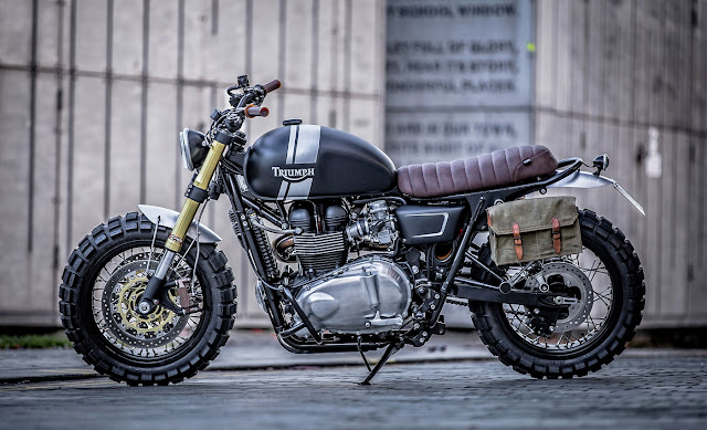 Triumph Bonneville T100 By Down & Out Cafe Racers Hell Kustom