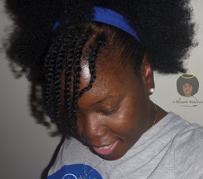 natural hair, flat twisted bang