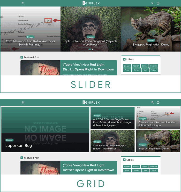 Blogger Theme Slider Carousel