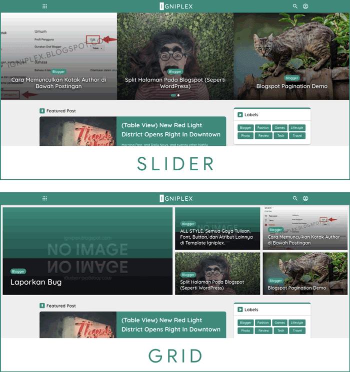 Blogger Theme Slider Carousel
