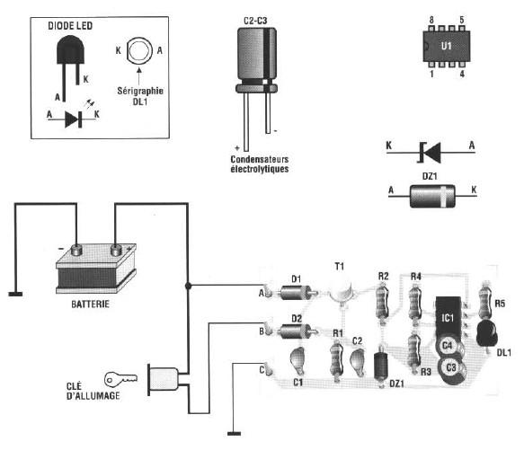 Schema antivol à LED pour Auto ~ Electronique & Electricité