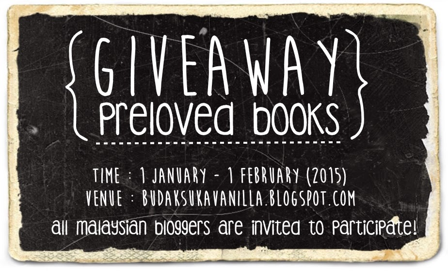 Giveaway Preloved Books By BudakVanilla {{CLICK TO JOIN!}}