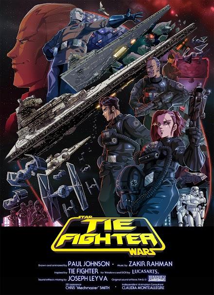 Star Wars Anime im Tōei Dōga Captain Future Look -  TIE Fighter