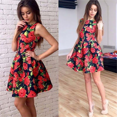 vestido con flores