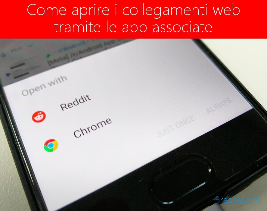 Come aprire i collegamenti web tramite le app associate