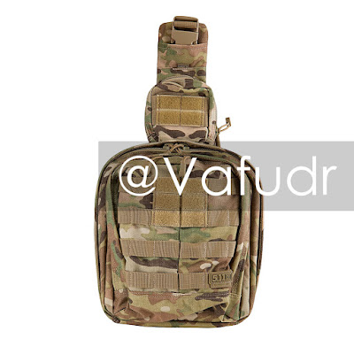 Fake 5.11 Tactical Rush MOAB 6 sling pack in Multicam