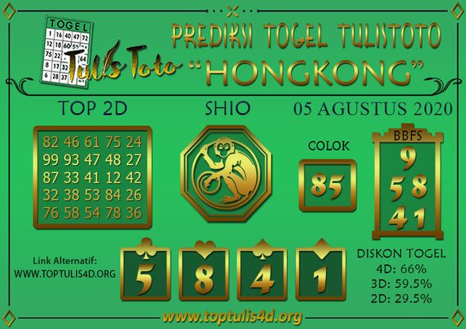 Prediksi Togel HONGKONG TULISTOTO 05 AGUSTUS 2020
