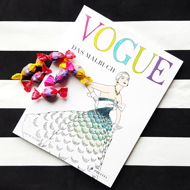 Milka, Vogue, coloring book, Malbuch