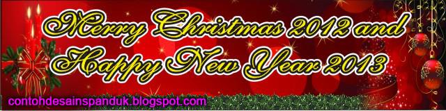 Spanduk Ucapan Natal dan Tahun Baru 2013 | Contoh Desain ...