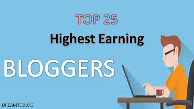 Top Earning Professional Bloggers