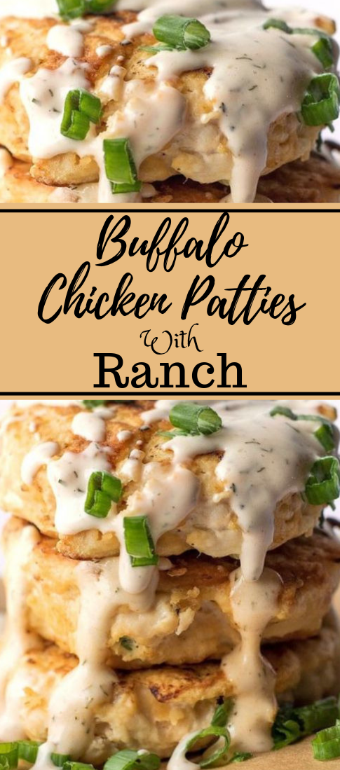 BUFFALO CHICKEN PATTIES WITH SPICY RANCH #diet #buffalo