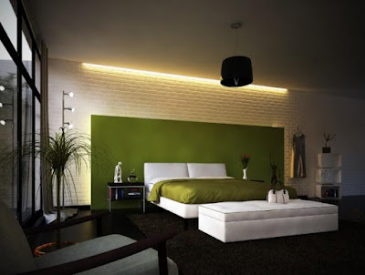 Brick wall shapes style in modern bedroom sets