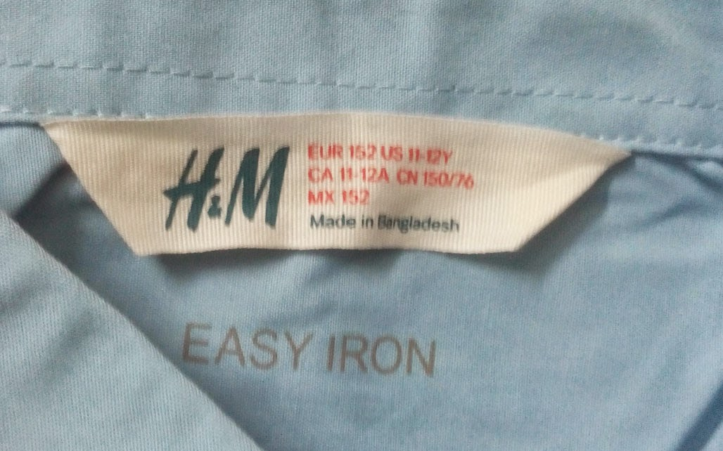 BOYS FULL SLEEVE SHIRT [H&M] | Bangladesh Garments Stock Lot Business