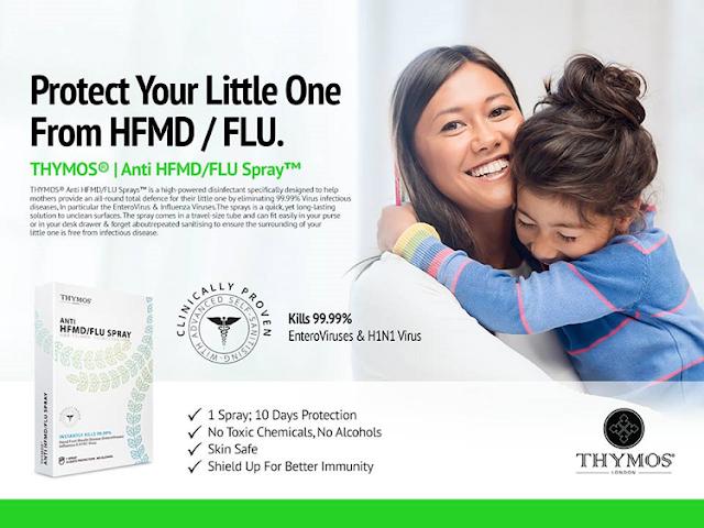 THYMOS Anti Penyakit Tangan, Kaki dan Mulut (HFMD) / FLU Spray
