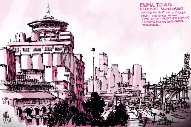 Digital Sketch of Prima Tower and PSA Port