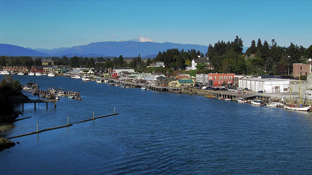 The waterfront of La Connor, Washington...