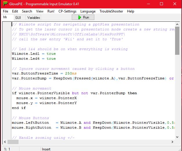 Glovepie Wiimote Mouse Script - internationalneon