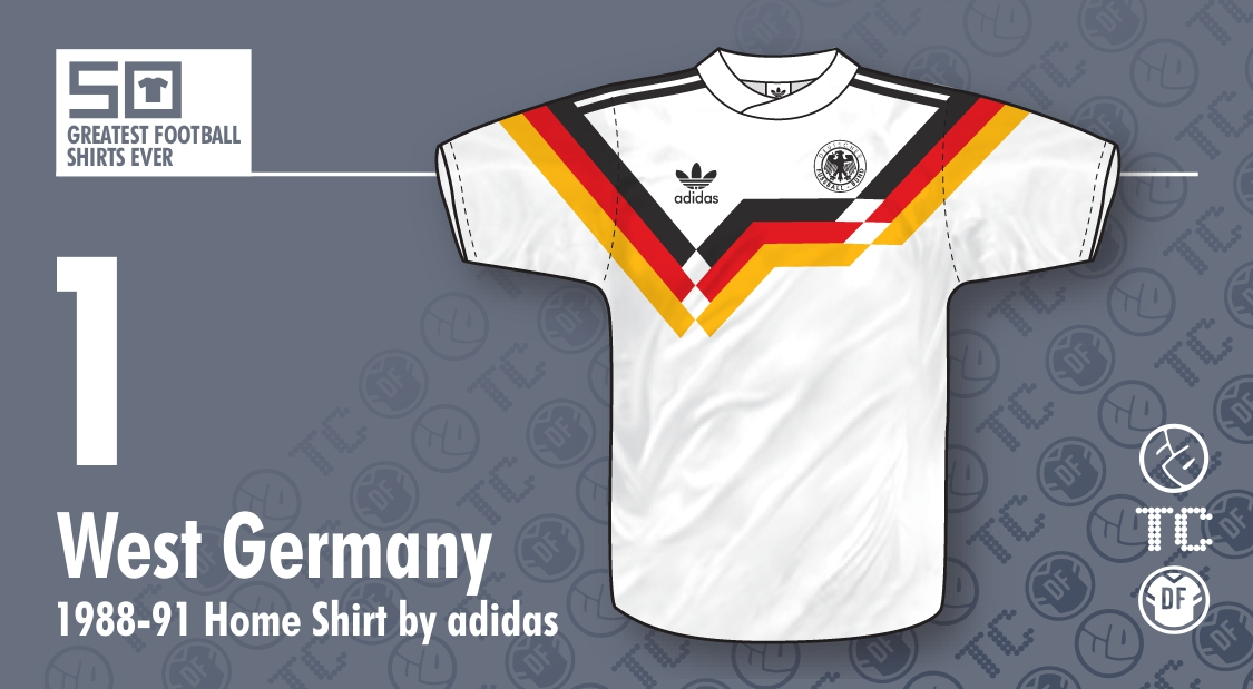 02dfb36b8a9e 50GFSE   1 - West Germany 1988-91 Home Shirt by adidas ~ The ...