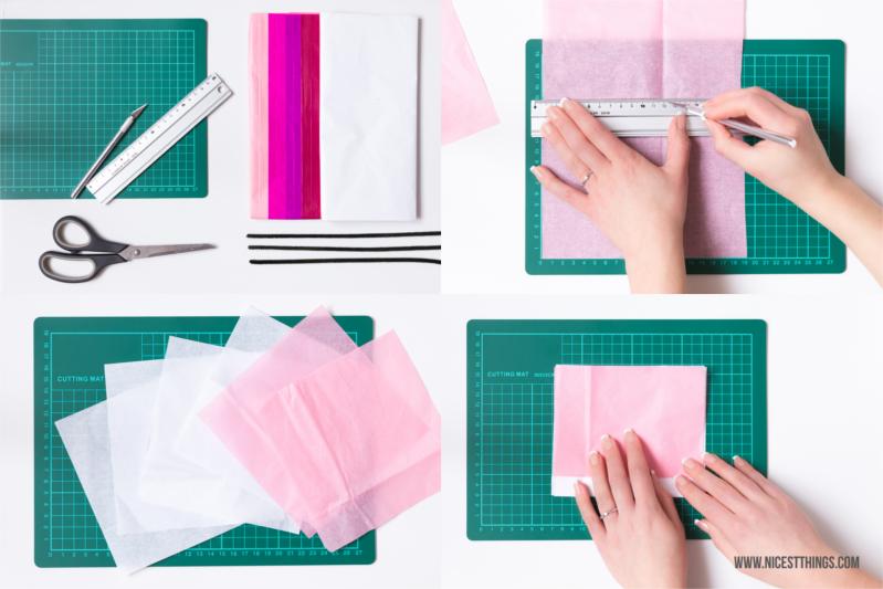 Papierblumen selber machen aus Seidenpapier DIY