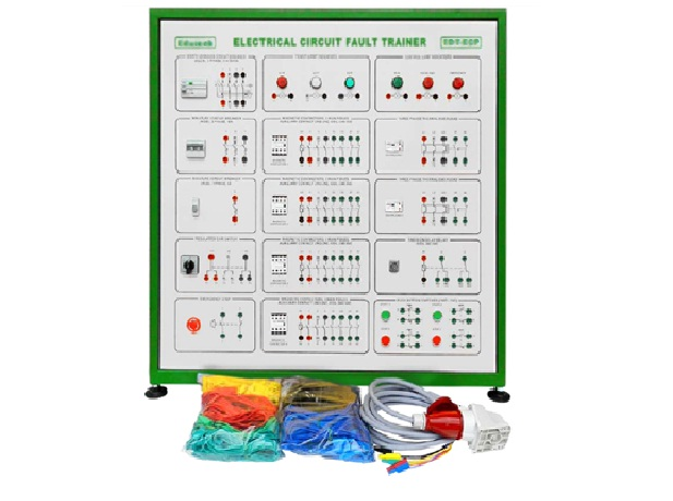 Edutech electrical control circuit fault trainer the edutech electrical circuit fault trainer is designed to provide a course on the operation and trouble shooting for electrical control circuits sciox Images