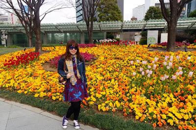 Beautiful flowers at Mori Garden in Roppongi Hills