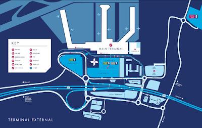 Mapa del Aeropuerto de Glasgow