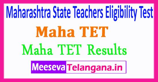 Maharashtra State Teachers Eligibility Test Maha TET Results 2018