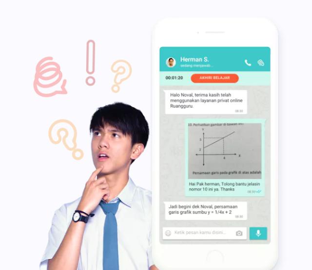 Lagi Booming applikasi Belajar Online Ruangguru