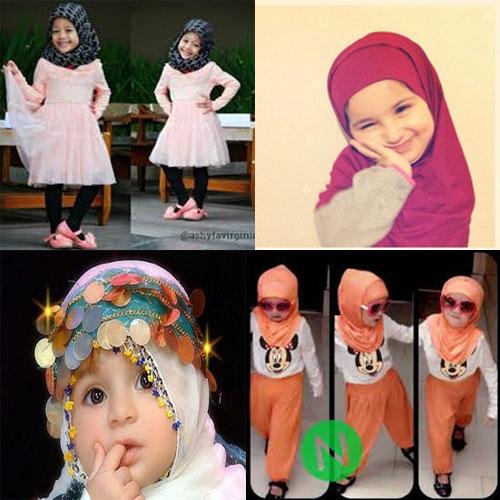 Foto Anak Kecil Lucu Memakai Hijab
