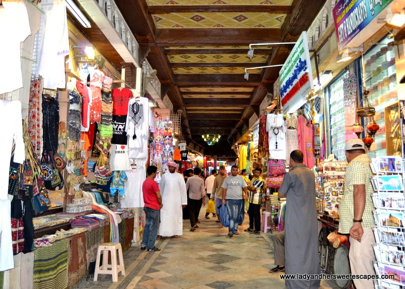 traditional Arab marketplace in Oman