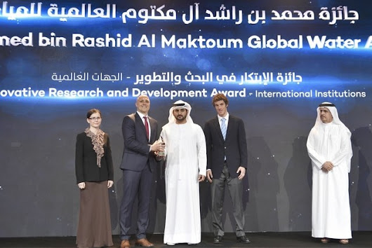Deputy Ruler of #Dubai honours #winners of #global #water #award
