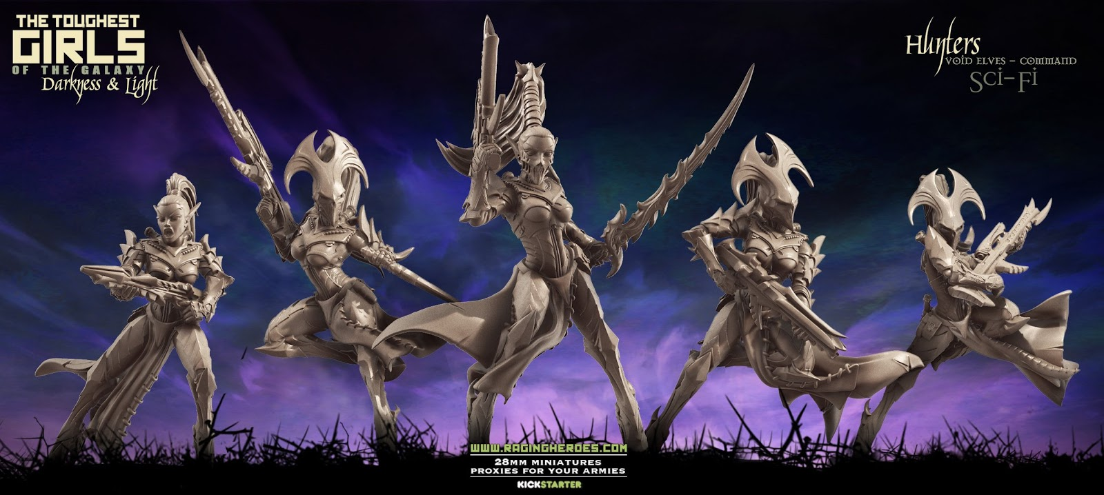 New Girl Trueborn from Raging Heroes Hunters-CG--SCIFI-Lineup
