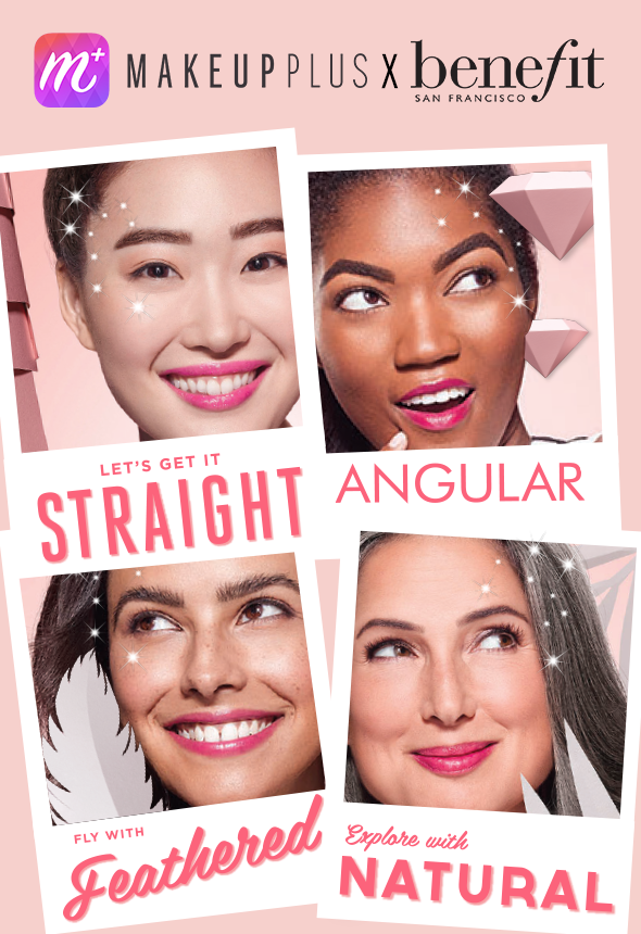 Benefit & MakeupPlus App launch Virtual Brow Try on!