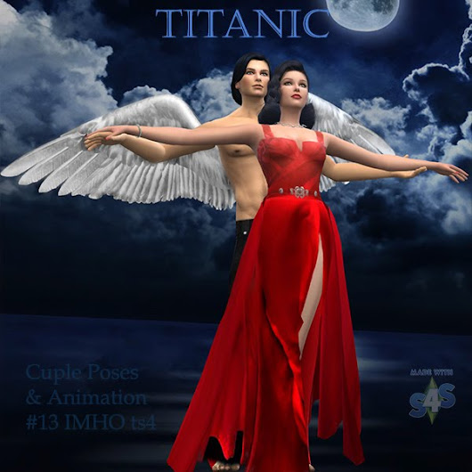Cuple Poses & AnimationTitanic #13 TS4 by IMHO