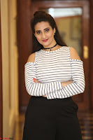 Manjusha in sleevelss crop top and black skirt at Darshakudu pre release ~  Exclusive Celebrities Galleries 049.JPG