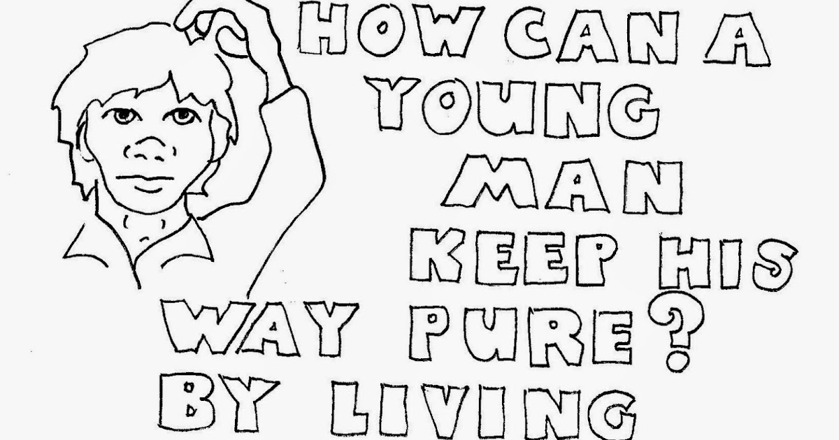 Coloring Pages for Kids by Mr. Adron: How Can A Young Man