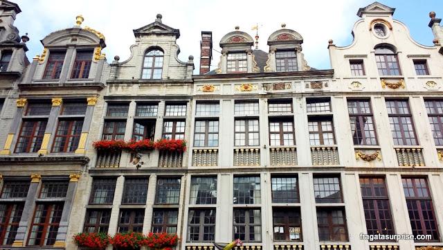 Fachadas barrocas em Bruxelas