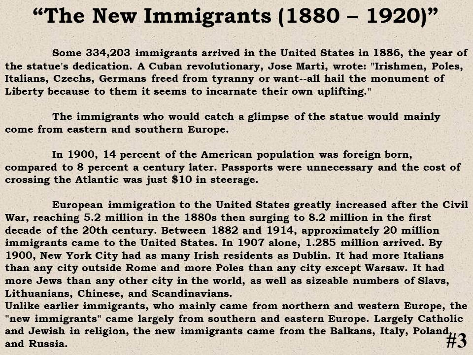 social studies immigrant questions S1 immigration immigration has shaped and defined the united states since its beginning this presentation highlights some of the important trends in us immigration history, from the different.